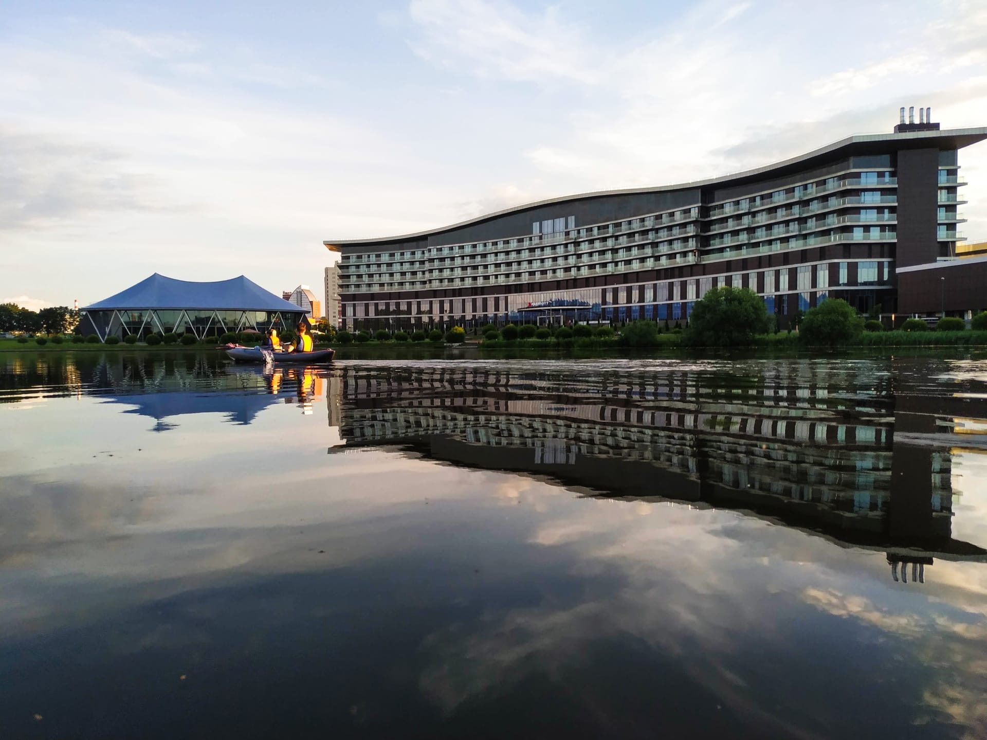 Вечерние сплавы на байдарках по Минску